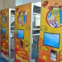 автомат по продаже попкорна, оборудование для коно-пиццы